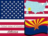 Arizona state illustration — Stock Vector