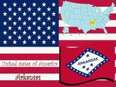 Arkansas state illustration — Stock Vector