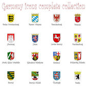 Germany icons collection against white — Vetor de Stock
