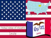 Illustrazione dello stato di iowa — Vettoriale Stock