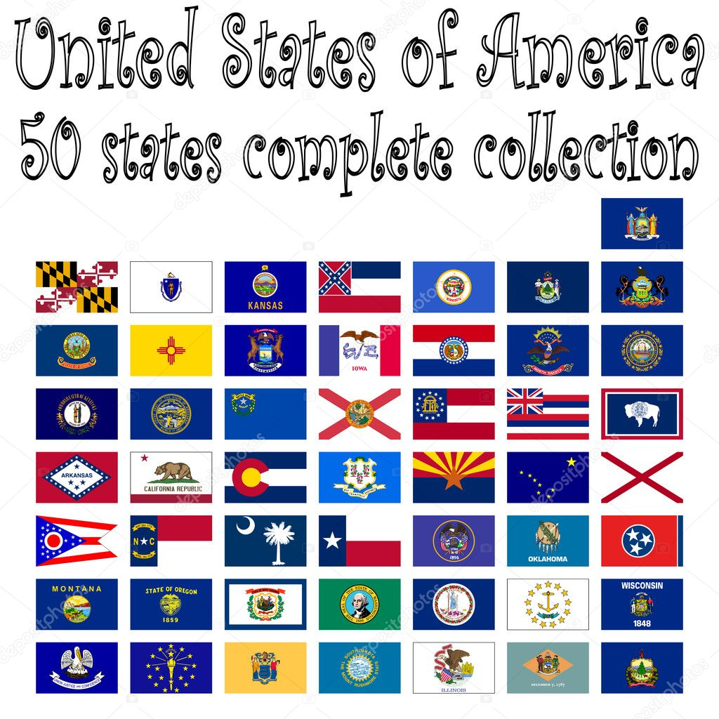 United states of america collection, abstract vector art illustration — Stock Vector #3079253