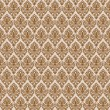 Brown damask seamless texture - Stock Vector