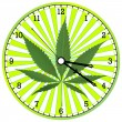 Cannabis clock - Stock Vector