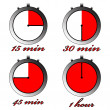 Chronometers against white - Stock Vector