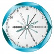 Clock abstract - Stock Vector