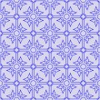 Floral seamless blue pattern - Stock Vector