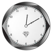 Diamond clock — Cтоковый вектор