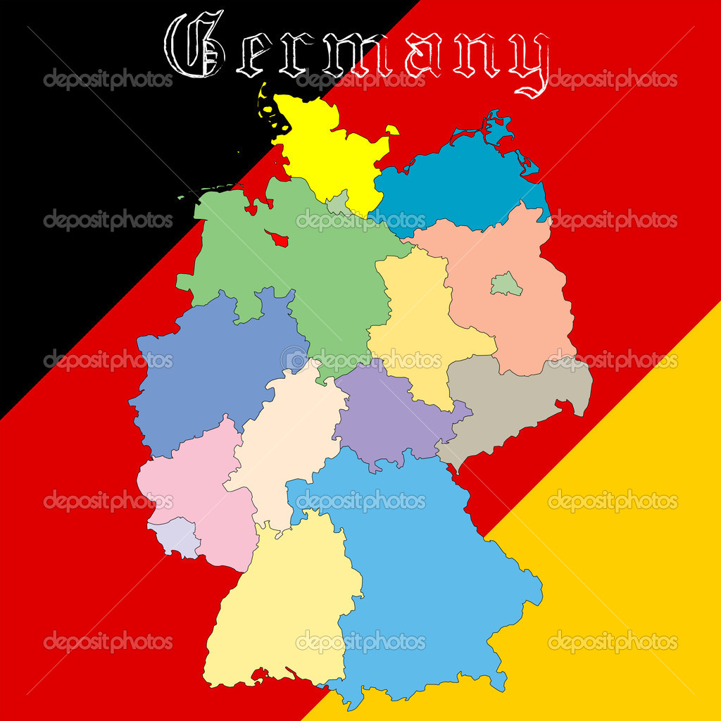 德国地图在全国颜色