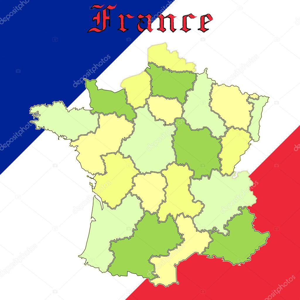 法国地图在全国颜色