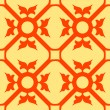 Orange flowers seamless texture - Stock Vector
