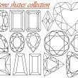Stone shapes collection - Stock Vector