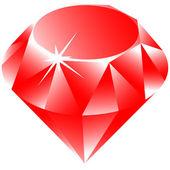 Ruby vector against white — Stock Vector
