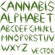 Cannabis leafs alphabet — Stock Vector #3258768