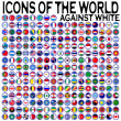 Icons of the world against white — Stock Vector