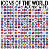 ícones do mundo contra branco — Vetor de Stock