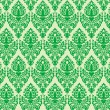Green damask seamless texture — Stock Vector