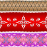 Ornamental design ribbons — Stock Vector