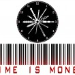 Time is money bar code — Stock Vector