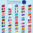 Vector de stock : Europe stylized flags