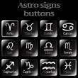 Dark astro sign buttons — Stock Vector