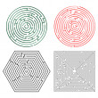 图库矢量图片: Printable mazes collection
