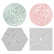 Vecteur: Printable mazes collection