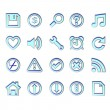 Web blue icons — Stock Vector