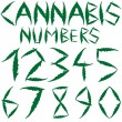Stock Vector: Cannabis numbers
