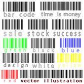 Bar codes vector against white — Stock Vector