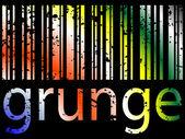 Grunge bar code — Stock Vector