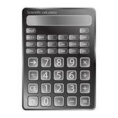 Calculator against white — Stock Vector
