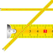 Measuring tape vector — Stock Vector
