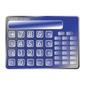 Calculatrice bleue contre blanc — Vecteur