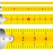 Measuring tape focus vector - Stock Vector