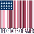 United states bar codes flag — Vettoriali Stock