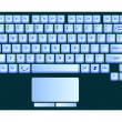 Laptop blue keyboard against white — Stock Vector #3478711