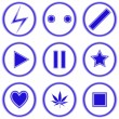 Abstract blue icons against white — Stock Vector