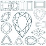 Stone shapes against white — Stock Vector