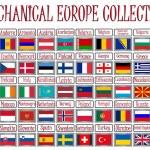Colección mecánica de Europa — Vector de stock