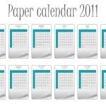 Paper calendar 2011 — Stock Vector #3478985