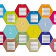Hexagonal calendar 2011 — Stock Vector