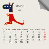 Mars 2011 animaux — Vecteur