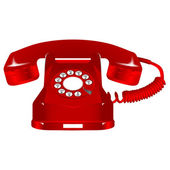 Retro red telephone — Stock Vector
