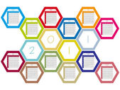 Honey comb 2011 calendar — Stock Vector