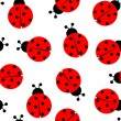 Stock Vector: Ladybug seamless pattern