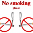 Royalty-Free Stock Vector Image: No smoking stylized signs