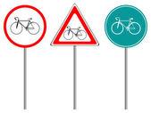 Bike traffic signs — Stock Vector