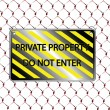 Royalty-Free Stock Vector Image: Do not enter inscription