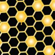 Honey comb background — Vector de stock