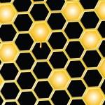 Fondo de peine de miel — Vector de stock